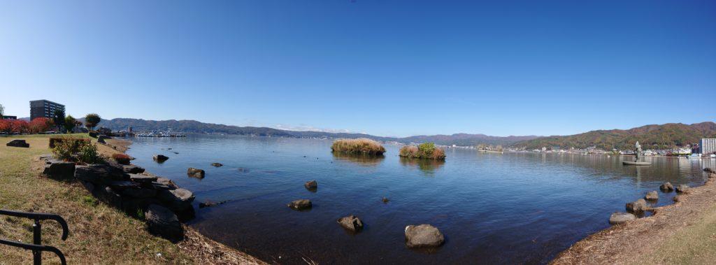 諏訪湖パノラマ撮影写真