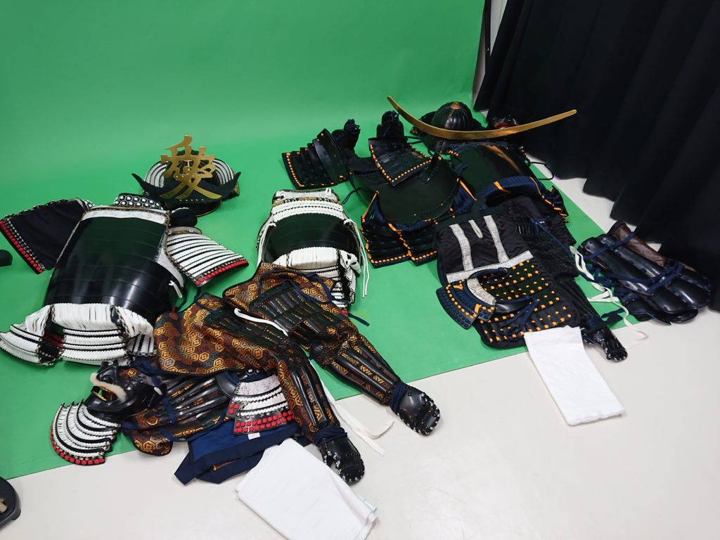 着用前の甲冑